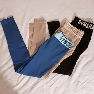 3 pair bundle Gymshark fit leggings full length